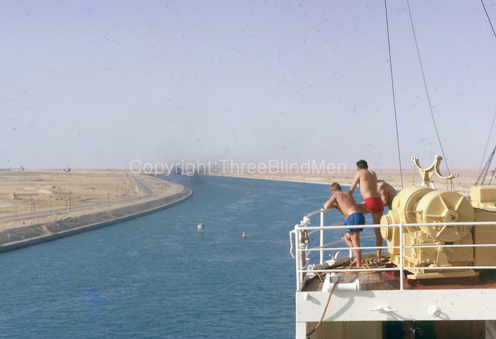 Returning on leave 1959 aboard P & O Himalaya Suez Canal.