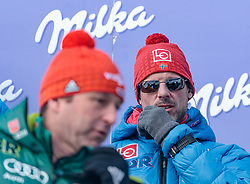 16.03.2018, Vikersundbakken, Vikersund, NOR, FIS Weltcup Ski Sprung, Raw Air, Vikersund, Finale, im Bild Cheftrainer Werner Schuster (GER), Cheftrainer Alexander Stoeckl (NOR) // Austrian Headcoach Werner Schuster of Germany, Austrian Headcoach Alexander Stoeckl of Norway during the 4th Stage of the Raw Air Series of FIS Ski Jumping World Cup at the Vikersundbakken in Vikersund, Norway on 2018/03/16. EXPA Pictures © 2018, PhotoCredit: EXPA/ JFK