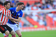 Dan Adshead keeps his eye on the ball during the EFL Sky Bet League 1 match between Sunderland and Rochdale at the Stadium Of Light, Sunderland, England on 22 September 2018.