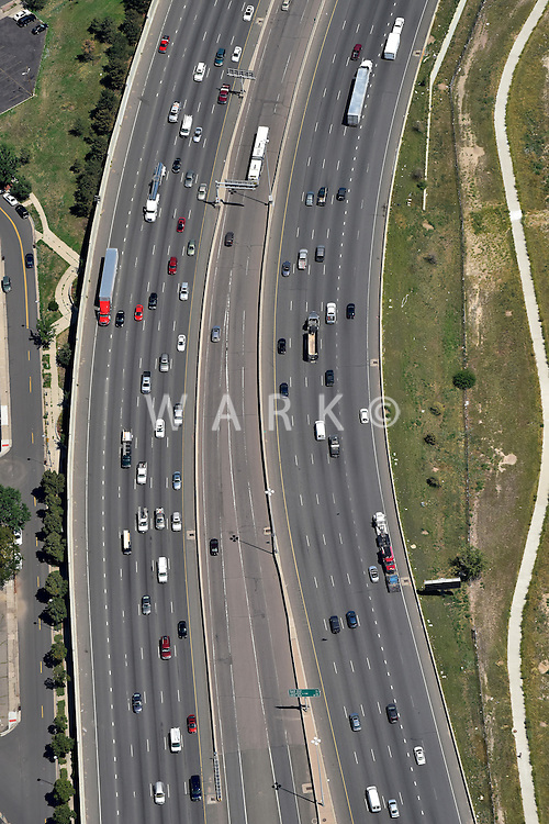 Freeway, I25 north of downtown Denver. Aug 2014.  812358