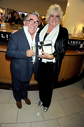 RONNIE CORBETT and his wife ANNE at a party hosted by Links of London to launch their new Driver Chicane Chronograph Watch held at Lonks, Sloane Square, London on 24th September 2008.