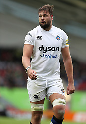 Bath's Elliott Stooke during the Aviva Premiership match at Welford Road, Leicester.