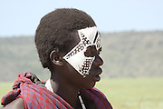 "Tanzania, Masai coming of age ceremony. This young male members are being initiated as warriors ""Moran""."