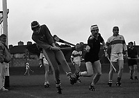 GAA Hurling at St Vincent's Park, St Vincents V St Marks, circa October 1989 (Part of the Independent Newspapers Ireland/NLI Collection).