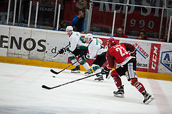 Ales MUSIC vs Urban SODJA during First league between HDD Acroni Jesenice vs HK SZ Olimpia, on April 23, 2019 in Jesenice, Slovenia. Photo by Peter Podobnik / Sportida