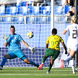 Rhoda Mulaudzi of South Africa during the Women's World Cup match between Germany and South Africa at Stade de la Mosson on June 17, 2019 in Montpellier, France. (Photo by Alexandre Dimou/Icon Sport)