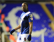 Goalscorer Clayton Donaldson during the Sky Bet Championship match between Birmingham City and Bolton Wanderers at St Andrews, Birmingham, England on 23 February 2016. Photo by Daniel Youngs.