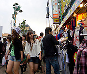 "Shoppers in Harajuku, Tokyo, Japan. Harajuku is reknowned for its outrageous youth fashions and ""bo beep"" girls. Editorial Only"