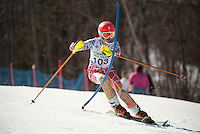 Francis Piche Invitational giant slalom for J3 at Gunstock March 17, 2012.