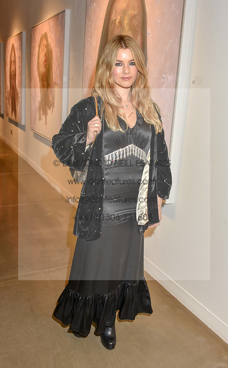 12 December 2019 - Katie Cook at a private view of Lethe by Henrik Uldalen at JD Malat Gallery. 30 Davies Street, London.<br /> <br /> Photo by Dominic O'Neill/Desmond O'Neill Features Ltd.  +44(0)1306 731608  www.donfeatures.com
