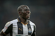 Mohamed Diamé (Newcastle United) smiles having scored for Newcastle during the EFL Cup 4th round match between Newcastle United and Preston North End at St. James's Park, Newcastle, England on 25 October 2016. Photo by Mark P Doherty.