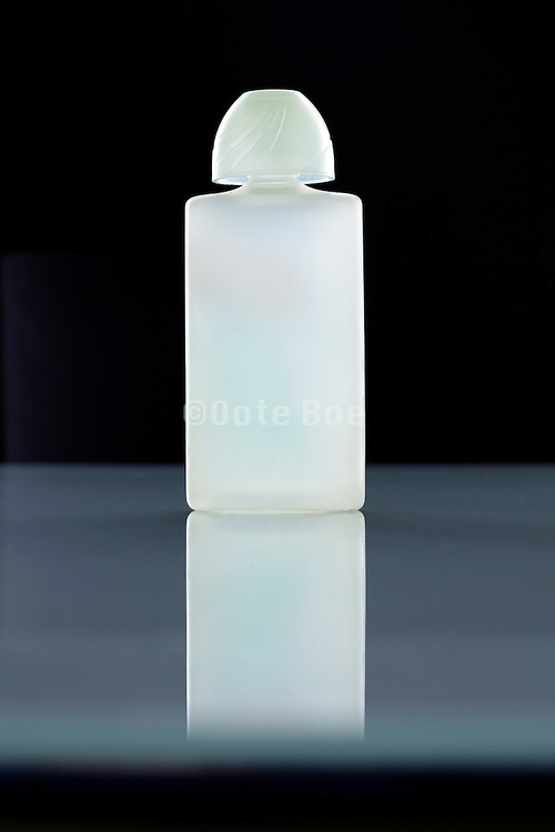 frosted glass perfume bottle