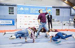Plesni studio Azra and Team perform at Istenic doubles Tournament and Slovenian Tennis personality of the year 2015 annual awards presented by Slovene Tennis Association TZS, on December 12, 2015 in Millenium Centre, BTC, Ljubljana, Slovenia. Photo by Vid Ponikvar / Sportida