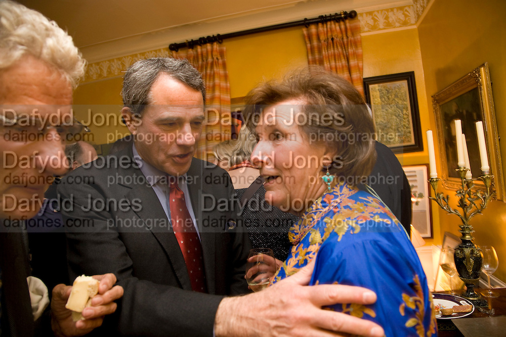 CHARLES GLASS; LADY ANNABEL LINDSAY, Book launch for American's in Paris by Charles Glass hosted by Lady Annabel Lindsay. Holland Park. London. 25 March 2009 *** Local Caption *** -DO NOT ARCHIVE-© Copyright Photograph by Dafydd Jones. 248 Clapham Rd. London SW9 0PZ. Tel 0207 820 0771. www.dafjones.com.<br /> CHARLES GLASS; LADY ANNABEL LINDSAY, Book launch for American's in Paris by Charles Glass hosted by Lady Annabel Lindsay. Holland Park. London. 25 March 2009