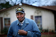 Disabled veteran Forrest V. Brannon photographed at his home in Dallas, TX.