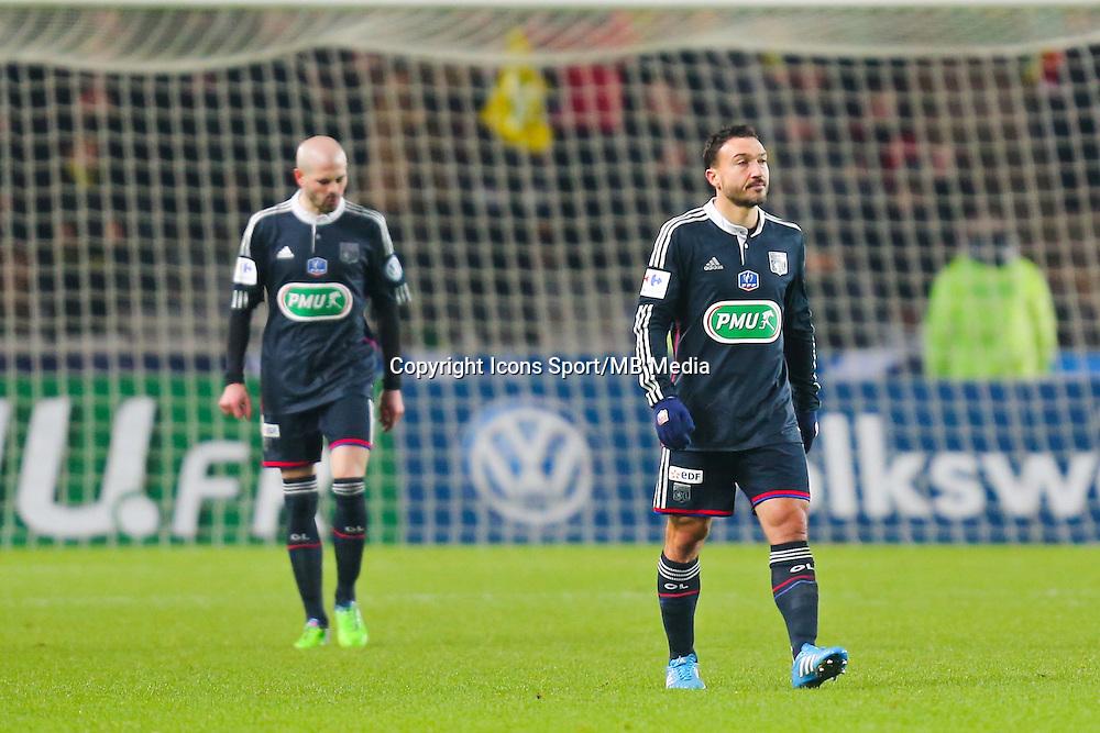 Deception Steed MALBRANQUE  - 20.01.2015 - Nantes / Lyon  - Coupe de France 2014/2015<br /> Photo : Vincent Michel / Icon Sport