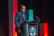 KELOWNA, CANADA - MARCH 19:  Reid Gardiner at the Kelowna Rockets Awards Ceremony on March 19, 2017 at the Kelowna Community Theater in Kelowna, British Columbia, Canada.  (Photo By Cindy Rogers/Nyasa Photography,  *** Local Caption ***