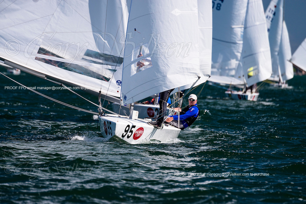 8395 Star Class sailing in Bacardi Miami Sailing Week, day one.