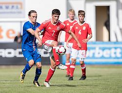 RHYL, WALES - Saturday, September 2, 2017: Wales' Mason Jones-Thomas during an Under-19 international friendly match between Wales and Iceland at Belle Vue. (Pic by Gavin Trafford/Propaganda)