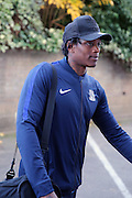 Southend United striker Nile Ranger (50) walking into ground during the EFL Sky Bet League 1 match between Southend United and Bradford City at Roots Hall, Southend, England on 19 November 2016. Photo by Matthew Redman.