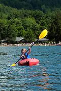 Kayaking at Branbury State Park on Lake Dunmore, Vermont.