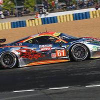 #61, Ferrari 458 Italia, Clearwater Racing, driven by, Weng Sun Mok, Keita Sawa, Rob Bell, 24 Heures Du Mans , 15/06/2016,