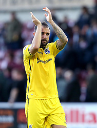 Peter Hartley of Bristol Rovers applauds the fans after his sides win over Northampton Town - Mandatory by-line: Robbie Stephenson/JMP - 01/10/2016 - FOOTBALL - Sixfields Stadium - Northampton, England - Northampton Town v Bristol Rovers - Sky Bet League One