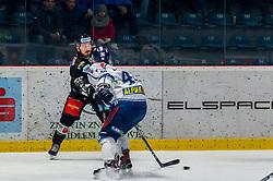 26.12.2018, Ice Rink, Znojmo, CZE, EBEL, HC Orli Znojmo vs Fehervar AV 19, 31. Runde, im Bild v.l. C.J. Stretch (HC Orli Znojmo) Jonathan Harty ( Fehervar AV19) // during the Erste Bank Eishockey League 31th round match between HC Orli Znojmo and Fehervar AV 19 at the Ice Rink in Znojmo, Czechia on 2018/12/26. EXPA Pictures © 2018, PhotoCredit: EXPA/ Rostislav Pfeffer