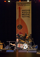 Korrontzi performs at Memorial Union during the Madison World Music Festival on September 12, 2014.