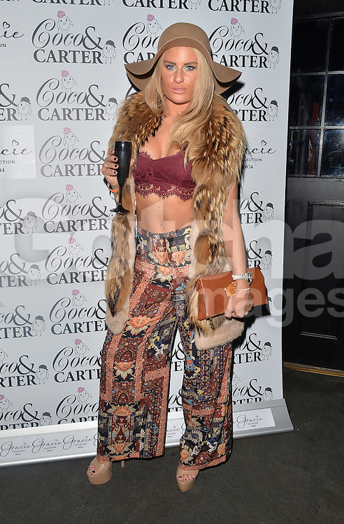 TOWIE star Danielle Armstrong attends the Coco and Cater clothing launch party at Sugahut, Brentwood, Essex, UK. 23/10/2014<br />