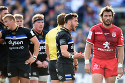 Max Green of Bath Rugby tries to energise the crowd during a break in play - Mandatory byline: Patrick Khachfe/JMP - 07966 386802 - 13/10/2018 - RUGBY UNION - The Recreation Ground - Bath, England - Bath Rugby v Toulouse - Heineken Champions Cup