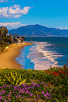 Butterfly Beach, Montecito (Santa Barbara), California USA.