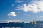 Charm III at the first annual St. Maarten Classic Yacht Regatta