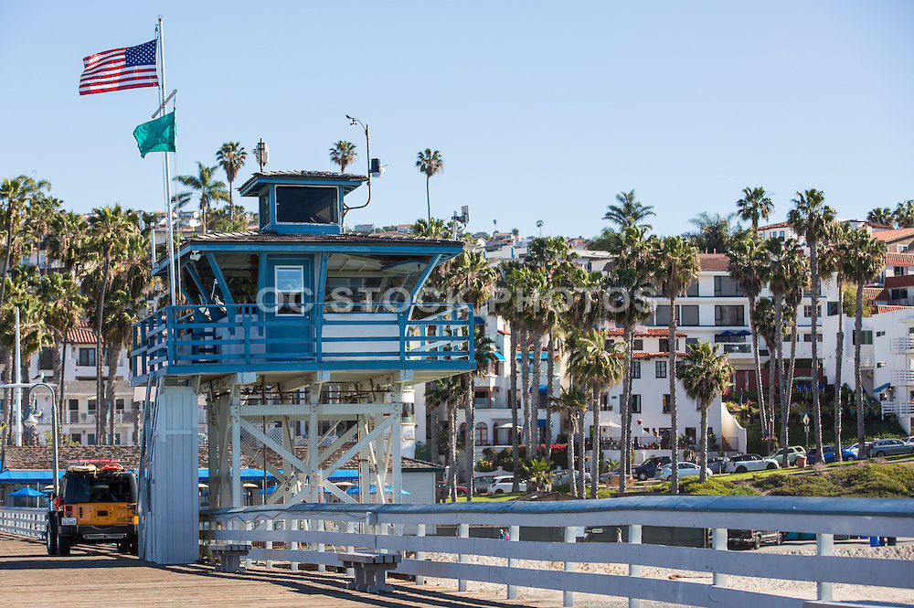 Lifeguard Lookout Tower on the San Clemente Pier
