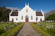 Th Dutch Reformed Church in Franschhoek, built in 1848. http://www.gettyimages.com/detail/photo/dutch-reformed-church-franschhoek-south-high-res-stock-photography/97936122