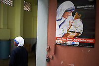Inde, Bengale Occidental, Calcutta (Kolkata), Mission de mere Teresa  // India, West Bengal, Kolkata, Calcutta, Mother Teresa hospice