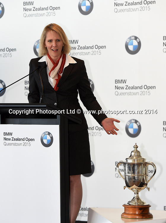 BMW's NIna Englert, BMW NZ Golf Open 2015 Announcement, The Cloud, Auckland on Tuesday 7 October 2014. Photo: Andrew Cornaga / Photosport.co.nz
