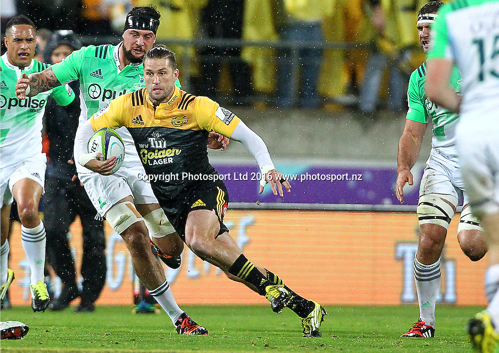 Hurricanes' Cory Jane during the Round 14 Super Rugby match, Hurricanes v Highlanders at Westpac Stadium, Wellington. 27th May 2016. Copyright Photo.: Grant Down / www.photosport.nz