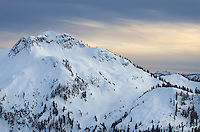 Mount Ann in winter, Mount Baker Wilderness Washington