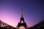 eiffel tower at dusk, paris, france