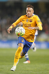 09.04.2016, Estadio de Anoeta, San Sebastian, ESP, Primera Division, Real Sociedad vs FC Barcelona, 32. Runde, im Bild FC Barcelona's Neymar Santos Jr // during the Spanish Primera Division 32th round match between Real Sociedad and FC Barcelona at the Estadio de Anoeta in San Sebastian, Spain on 2016/04/09. EXPA Pictures © 2016, PhotoCredit: EXPA/ Alterphotos/ Acero<br /> <br /> *****ATTENTION - OUT of ESP, SUI*****