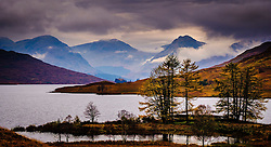 Storm clouds gather over mountains at the head of Loch Arklet, Loch Lomond & The Trossachs National Park, Scotland<br /> <br /> (c) Andrew Wilson | Edinburgh Elite media
