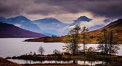 Storm clouds gather over mountains at the head of Loch Arklet, Loch Lomond &amp; The Trossachs National Park, Scotland<br /> <br /> (c) Andrew Wilson | Edinburgh Elite media