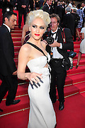 20.MAY.2011. CANNES<br /> <br /> GWEN STEFANI ON THE RED CARPET FOR MOVIE THIS MUST BE THE PLACE PREMIERE AT THE 64TH CANNES INTERNATIONAL FILM FESTIVAL 2011 IN CANNES, FRANCE<br /> <br /> BYLINE: EDBIMAGEARCHIVE.COM<br /> <br /> *THIS IMAGE IS STRICTLY FOR UK NEWSPAPERS AND MAGAZINES ONLY*<br /> *FOR WORLD WIDE SALES AND WEB USE PLEASE CONTACT EDBIMAGEARCHIVE - 0208 954 5968*