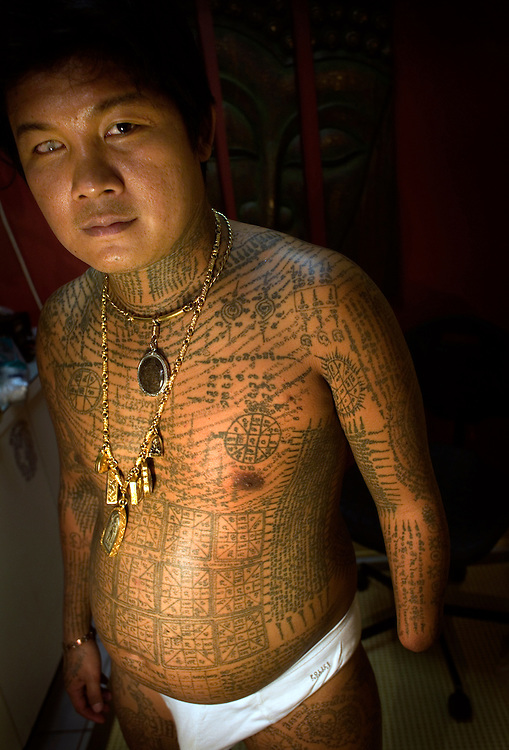 ©2006 Thai tattoo artist Pong visits East street tattoo in Stockholm, sweden, providing holy tattoos in Buddhistic tradition. Photo: Markus Marcetic