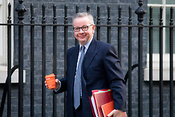 © Licensed to London News Pictures. 30/01/2018. London, UK. Environment, Food and Rural Affairs Secretary Michael Gove arriving in Downing Street to attend a Cabinet meeting this morning. Photo credit : Tom Nicholson/LNP