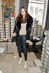 KIM JOHNSON at a preview of Bionda Castana's new seasons shoes hosted by Alex Meyers and Bionda Castana and held at The Arts Club, 40 Dover Street, London on 4th March 2015.