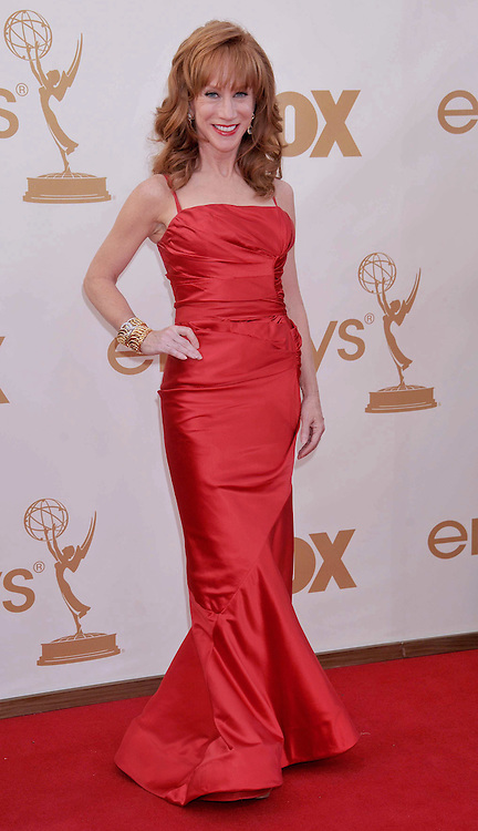 "KATHY GRIFFIN.attends the Academy of Television Arts & Sciences 63rd Primetime Emmy Awards at Nokia Theatre L.A. Live, Los Angeles_18/09/2011.Mandatory Photo Credit: ©Crosby/Newspix International. .**ALL FEES PAYABLE TO: ""NEWSPIX INTERNATIONAL""**..PHOTO CREDIT MANDATORY!!: NEWSPIX INTERNATIONAL(Failure to credit will incur a surcharge of 100% of reproduction fees).IMMEDIATE CONFIRMATION OF USAGE REQUIRED:.Newspix International, 31 Chinnery Hill, Bishop's Stortford, ENGLAND CM23 3PS.Tel:+441279 324672  ; Fax: +441279656877.Mobile:  0777568 1153.e-mail: info@newspixinternational.co.uk"
