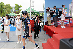Ilona Hoeksma walks the red carpet at Tour of Chongming Island - Stage 1. A 118.8km road race on Chongming Island, China on 5th May 2017.