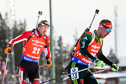 March 10, 2019 - –Stersund, Sweden - 190310 Dominik Landertinger of Austria and Johannes Kuehn of Germany during the Men's 12,5 km Pursuit during the IBU World Championships Biathlon on March 10, 2019 in Östersund..Photo: Petter Arvidson / BILDBYRÃ…N / kod PA / 92255 (Credit Image: © Petter Arvidson/Bildbyran via ZUMA Press)